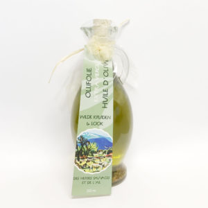 Olijfolie (extra vierge) met wilde kruiden en look | 250 ml